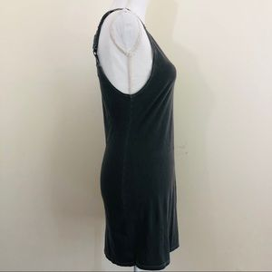 Billabong Dresses - BILLABONG Distressed gray tank top dress